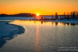 February sunset at the Chippewa Flowage