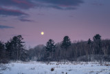 Full moon setting, in the Blue Hills 1