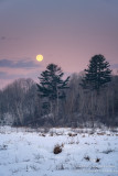 Full moon setting, in the Blue Hills 2