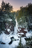 Sunset mood at Copper Falls State park