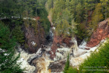 At Copper Falls state park, confluence
