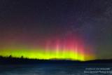 Aurora borealis, lake