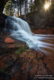 Lost Creek falls and sun