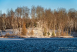 Spring snow, Audie Lake