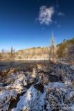 Spring snow, Blue Hills 1