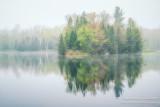 Foggy morning scene, Audie Lake 2