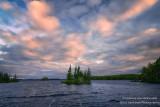 Pink clouds, morning at the Chippewa Flowage