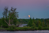 Partial Lunar eclipse at the Chippewa Flowage