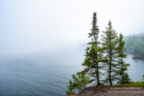 A foggy day along the shoreline of Lake Superior. View from Shovel Point at Tettegouche State park 1