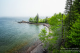 A foggy day along the shoreline of Lake Superior. View from Shovel Point at Tettegouche State park 3