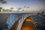 Beautiful evening on the Atlantic