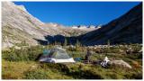 Campsite in the basin