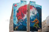 Mural With Pepsi Ad