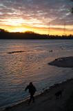 Sunset Walk Wit A Dog