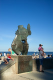 A Fish Statue At The Beach