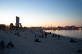 City Beach At Dusk