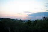 View From The Hill At Sunset