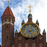 Huge Clock On St. Mary's Church