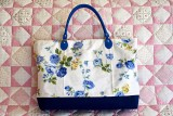 New blue flower bag