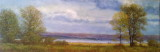 Au bord du fleuve à Cap Tourmente 12x36 Collection privée