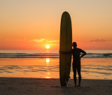 A Long Boarder Sunset