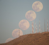 Moonrise Over South Mountain Towers -- May 7, 2020