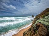Rock and beach near gibson steps victoria
