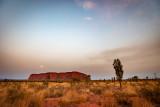 DSC_7412  Uluru sunrise with moon