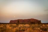 DSC_7419 ACR Uluru sunrise with moon
