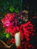 Peony, Iris, Wild Rose, Mint