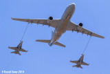 RAAF In Air Refueling KC-30 and 2 x F/A-18 Hornets