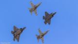 F-35A, 2 x F/A-18A, F-22