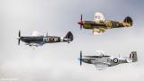 WW2 Formation Flight - Spitfire, Kittyhawk & Mustang