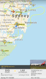 Flightradar24 Screener QF7474 Flight Path Over Sydney