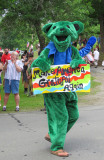 Green Bear in the Parade...With a bit of SPIN!