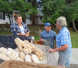 Suzanne sells wonderful country loaves on Friday's