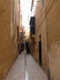 Narrow walkways in Valletta