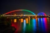 Le  pont BEATUS RHENANUS pour le tramway entre Strasbourg en France et Kehl en Allemagne