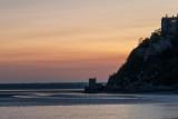 Le Mont Saint Michel avec la chapelle Saint-Aubert