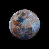 Color-enhanced Moon