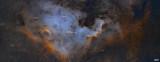 NGC7000 MOSAICO 4 Teselas ANOTADA
