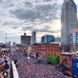 Downtown Nashville during NFL draft 4/26/2019