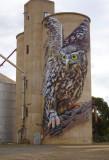 Goorambat, painted silo, detail