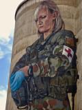 Devenish, ANZAC silo mural detail
