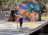 Benalla 2019 Wall to Wall Art festival, park mural