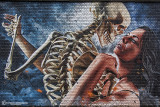 Meeting of styles wall Antwerp .  Dance with death by studio giftig