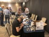 Bob Sprague works on a resin kit.