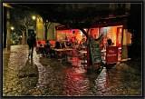 Wet Evening Café.