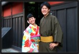 A Friendly Couple in Gion.