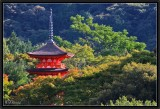 Red Pagoda. Kyomizu Dera Area.